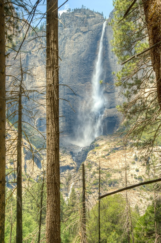 Yosemite Falls with Nikon D200, 5-shot bracket. Edited in Photomatix Pro.